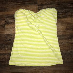 H&M Strapless Striped Top